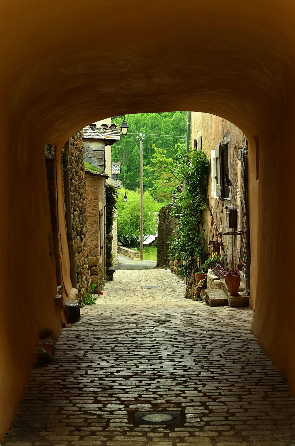 Une ruelle d'Ispagnac