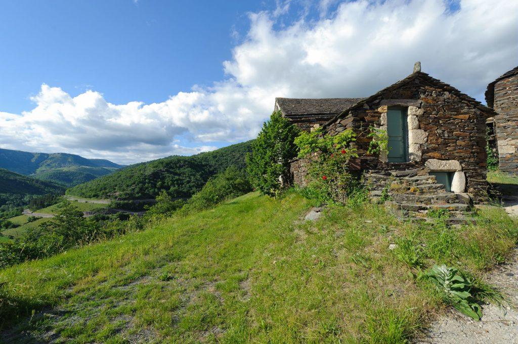 Hameau de Bieisses en zone coeur du Parc National des Cévennes